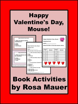 Happy Valentine's Day, Mouse Literacy Task Cards & Worksheets