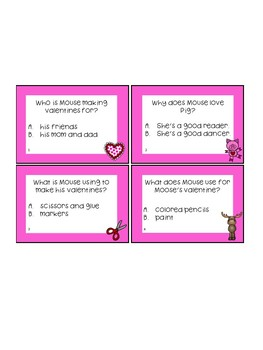 Happy Valentine's Day, Mouse! Worksheets and Task Cards