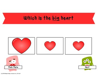 Happy Valentine's Day Mouse- interactive iPad Speech and Language Activities