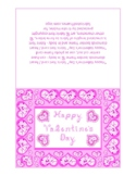 Happy Valentine's Day Orchid Monotone Fabric Font Heart Di