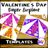 Happy Valentine's Day Paper Airplane Templates