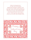 Happy Valentine's Day Pink Monotone Fabric Font Heart Diam