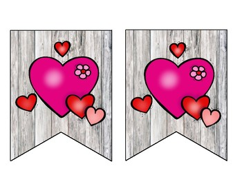 Happy Valentine's Day Rustic Barnwood Banner