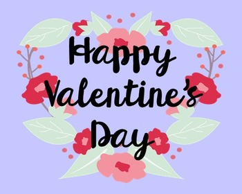 Happy Valentine's Day Poster, Class Decor, Holiday Sign, Bulletin Board