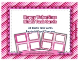 Happy Valentines Blank Task Cards