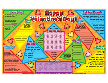 Happy Valentines Day Activity Mats