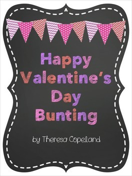 Happy Valentine's Day Bunting {Freebie}