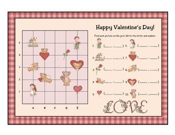 Happy Valentine's Day Coordinate Grid Activity