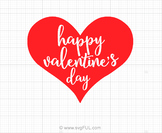 Happy Valentines Day Heart Svg Saying