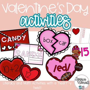 Valentine's Day Activities for Math and ELA!