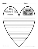 Happy Valentine's Day - Owl Writing Prompt