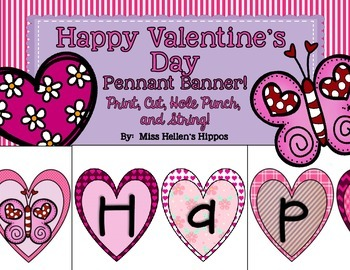 Valentine's Day Heart Pennant Banner {2 Sizes!}