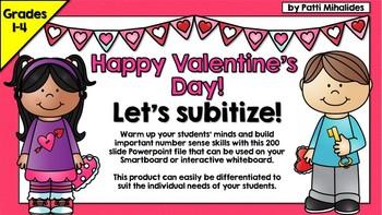 Happy Valentine's Day: Subitizing for your Smartboard/Interactive Whiteboard