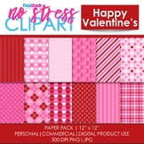 Happy Valentines Digital Papers