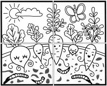 Happy Vegetable Mural