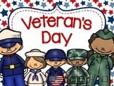 Happy Veteran's Day Emergent Reader