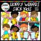 Happy Writers Stick Kids Clipart