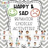Happy & Sad Preschool Behavior Management Activities & Charts