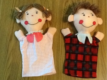 Happy and Sad Emotion Hand Puppets