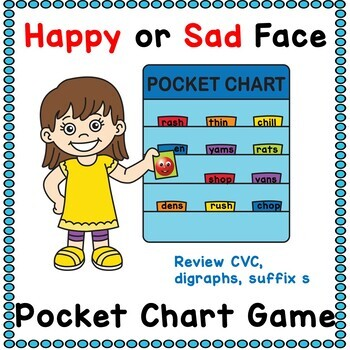 Happy and Sad Face Pocket Chart Game