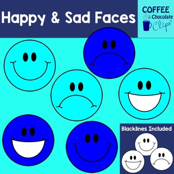 Happy and Sad Faces Clipart