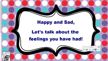 Happy and Sad Feelings Smart Board Lesson