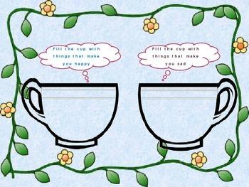 Happy and sad cups