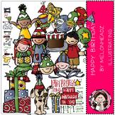 Happy birthday clip art - COMBO PACK- by Melonheadz