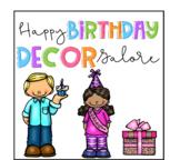 Happy birthday decor galore