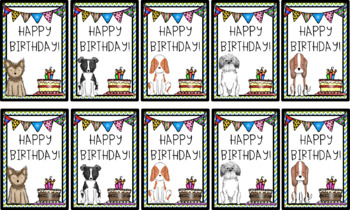 Happy birthday doggie bundle, certificates, brag tags