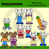 Happy bunnies clip art