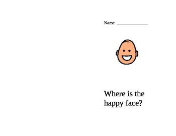 Happy face preposition activity book