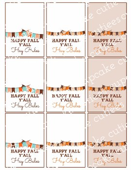 Happy Fall Y'All  Favor Hand out Classroom Party Printable -Digital