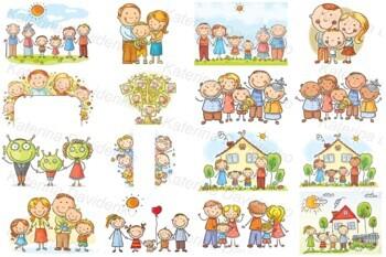 25 3D Pics. Happy Family   Amazing Photos   Family cartoon, Family clipart, Family  images