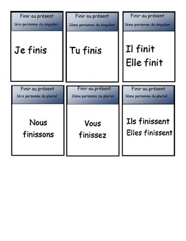 French happy families card game