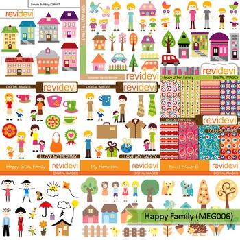 Happy family clip art mega bundle (9 packs)