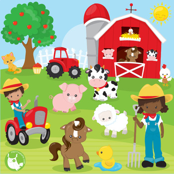 Happy farms clipart commercial use, vector graphics ... Clip Art Pictures Of Farm Houses