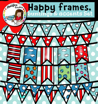 Happy frames, buntings and Accents Set, 29 items!!