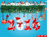 Happy new year 2016 Christmas Trees Clip Art modern decorations ornaments -156