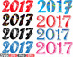 Happy new year 2017 Props Clip Art decorations ornaments Champagne holiday -551s