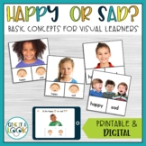 Feelings and Emotions Activity with Digital Boom Cards (Happy or Sad)