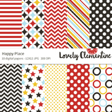 Happy place digital papers 12x12