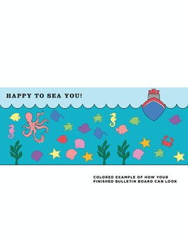 Happy to Sea You Classroom Bulletin Board DIY Kit