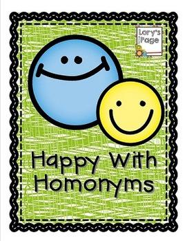ELA - Mini Lesson Happy with Homonyms
