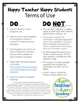 HappyTeacherHappyStudents Terms of Use