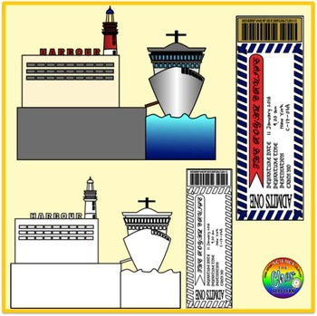 Harbour Clipart (Transportation/Port/Pier/Nautical)