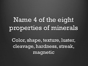 Harcourt 3rd Grade Minerals Test and Test Review
