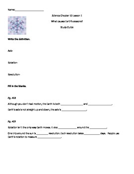 Harcourt 3rd Grade Science Chapter 10 Lesson 1 Study Guide