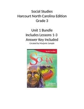 Harcourt 3rd grade social studies book