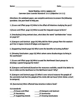 Harcourt 5th Grade Social Studies Unit 2 (Common Core)